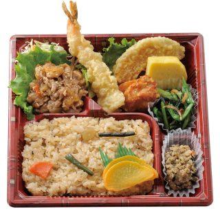 バランス弁当(山菜ご飯)