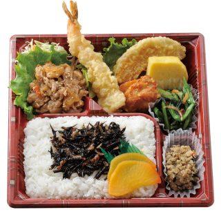 バランス弁当(梅ひじきご飯)